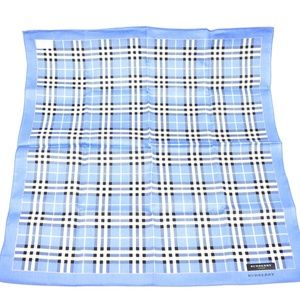BURBERRY London: Blue Nova Check Pocket Scarf (oz)
